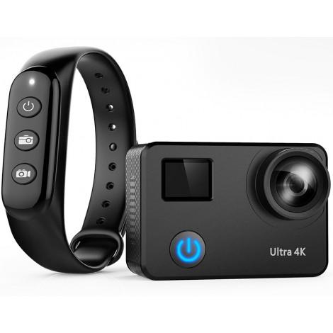 Экшн камера NOVELEKA NC2-90 PRO с пультом и объективом 90 градусов без эффекта рыбий глаз